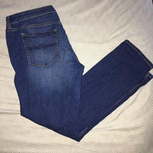 Medium-Wash Arizona Jean Comp. Super Skinny Jeans